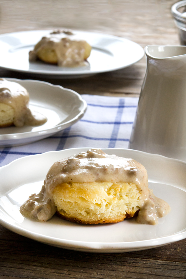 Gluten Free Biscuits and Gravy | Gluten-Free on a Shoestring